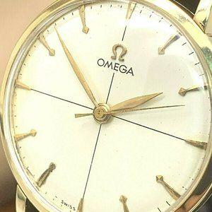 Omega Men's Watch Vintage 14K Solid Gold Swiss